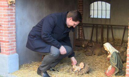"""Treviglio: Il sindaco ripone il Bambin Gesù rubato dalla capanna, """"Un segnale importante"""" -Treviglio TV"""