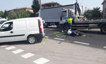 +FLASH+ Scontro furgone moto, gravissimo un 49enne a Brignano
