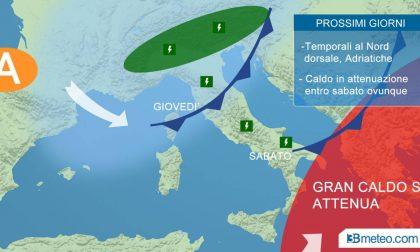 Il caldo ha le ore contate: temporali e temperature in picchiata