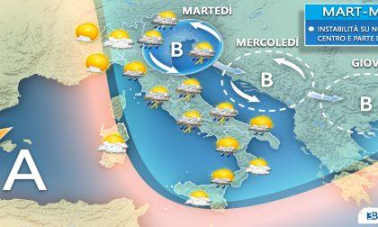Clima autunnale, ma da domani torna l'alta pressione