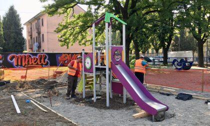 Parchi pubblici, un nuovo gioco in viale Piave