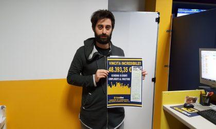 Maxi vincita, con una schedina da 12 euro ne vince 48mila