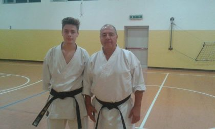 Manuel Benini ai Mondiali di karate in Irlanda