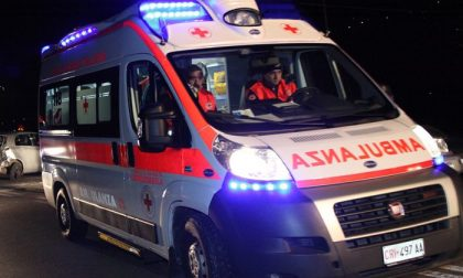 Incidente a Urgnano, ragazza in ospedale SIRENE DI NOTTE