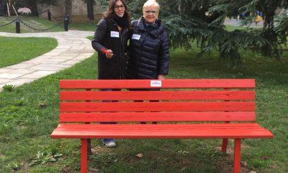Panchina rossa a Treviglio contro la violenza sulle donne