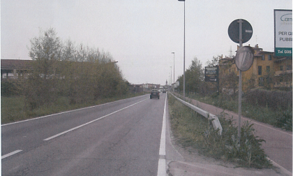 Nuova rotonda in via Bergamo