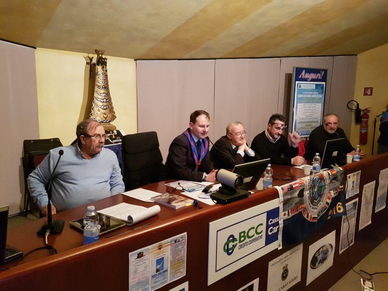 Caravaggio Mario Giuliacci conferenza aerospaziale