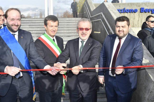Bergamo, inaugurata la fermata ferroviaria dell'ospedale