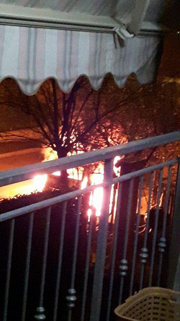 macchina incendiata Ghisalba