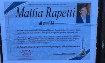 Addio a Mattia Rapetti, si è spento a 18 anni per un'influenza
