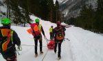 Scivola sul ghiaccio 70enne di Offanengo recuperato dal soccorso alpino FOTO