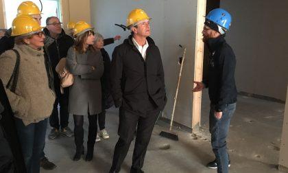 Giorgio Gori visita il cantiere del Villaggio solidale FOTO