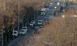 Incidente alla Baslini, auto ribaltata in mezzo alla strada FOTO