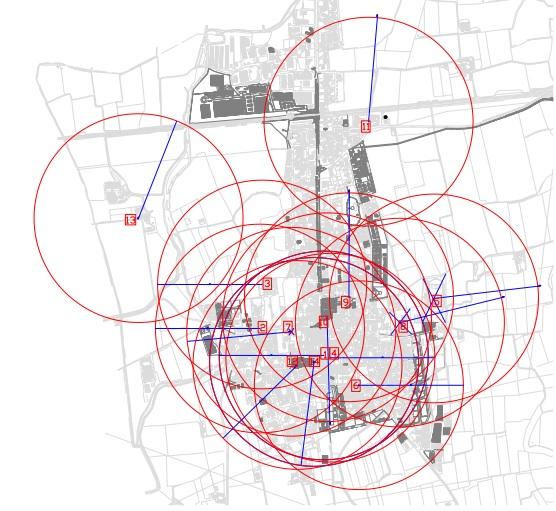Mappa bariano con zone sensibili al collocamento slot machines
