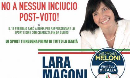 Lara Magoni e la gaffe dell'inciucio post voto