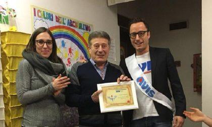 L'Avis di Arcene premia il suo super donatore: è il papà del presidente Bertola