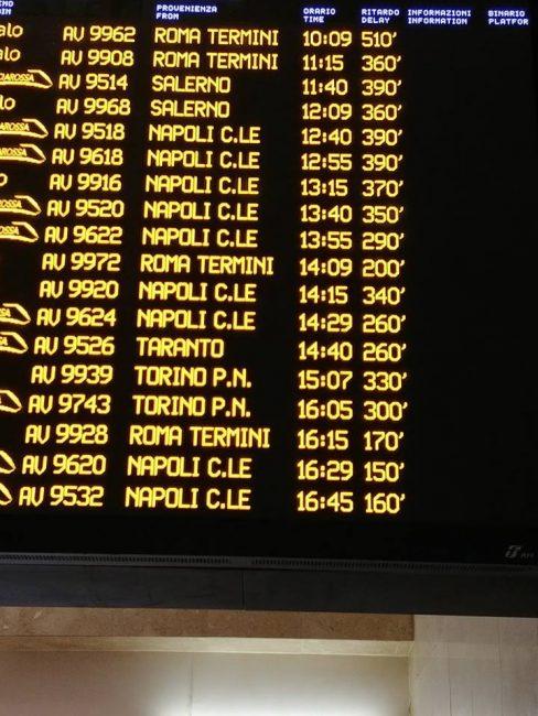 treni in ritardo