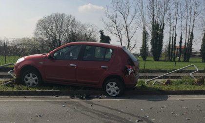 Incidente a Urgnano scontro tra due auto sulla provinciale