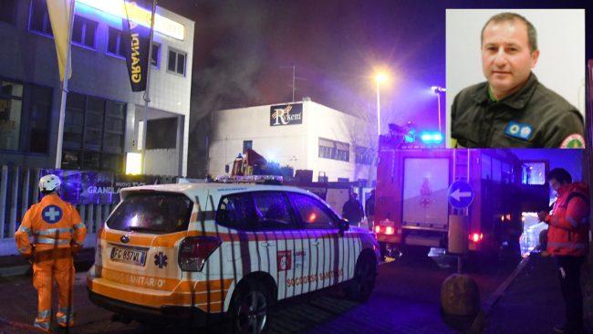 Rogo in una azienda a San Donato Milanese, muore un pompiere volontario
