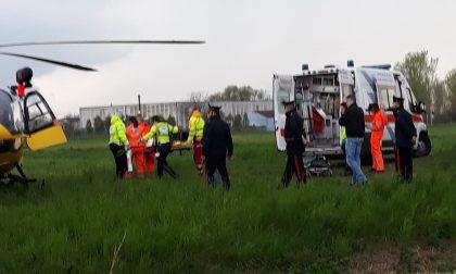 Malore a Pandino, 42enne soccorso con l'elicottero FOTO