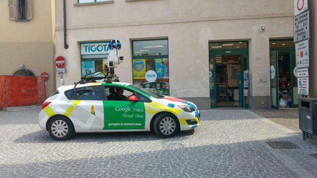 Il cantiere di piazza Setti &#8220&#x3B;incastra&#8221&#x3B; Google street view