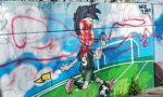 Sfregiato il murale della scuola di Zingonia