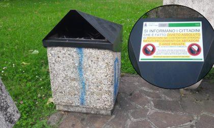 Un avviso per i furbetti del cestino