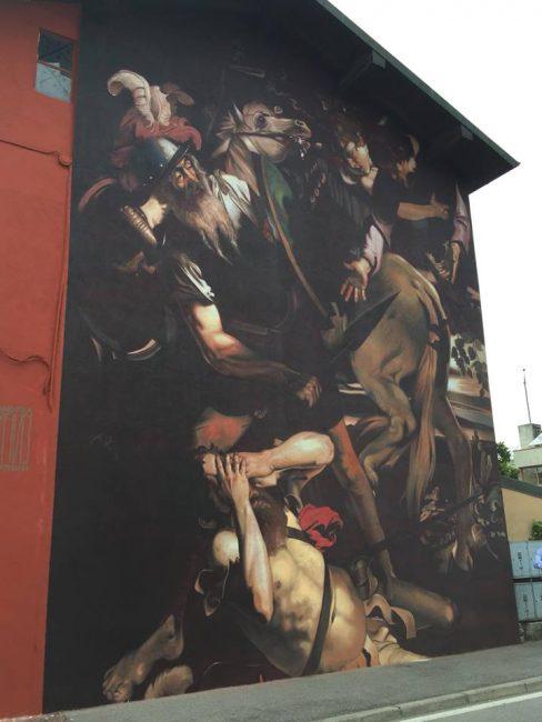 Caravaggio sui muri di Covo