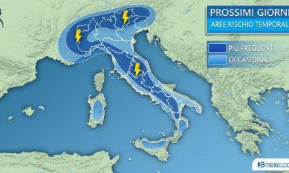 Tempo maggio instabile, raffica di temporali in arrivo