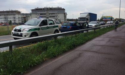 Traffico bloccato, lunghe code a Treviglio