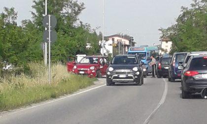 Incidente a Sola, traffico in tilt FOTO