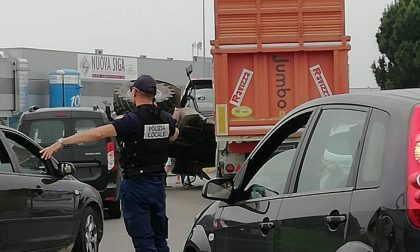 Traffico Francesca   Trattore ribaltato, occhio alle code