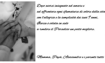 Addio alla piccola Ilaria Orlando, si è spenta ieri al Papa Giovanni