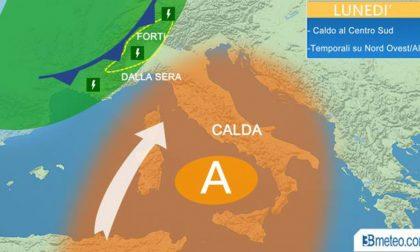 Lunedì caldo sull'Italia ma temporali in arrivo al Nord METEO