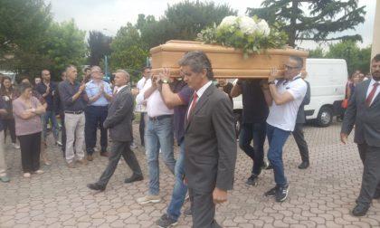 Roberto Rossi l'omaggio degli amici motociclisti per l'ultimo saluto