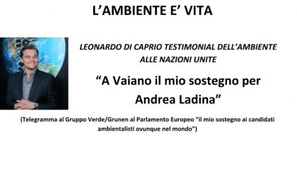 Lo strano endorsement di Leonardo Di Caprio per le elezioni di Vaiano. Ecco chi voterebbe (forse)