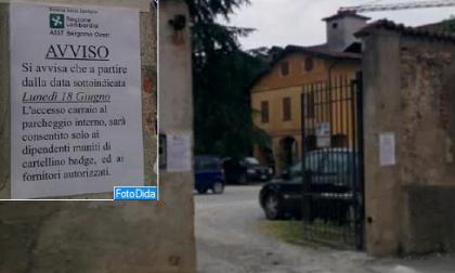 L'Asst Bergamo Ovest chiude il parcheggio dell'ex ospedale