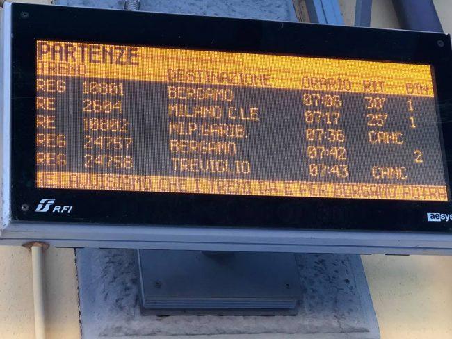 ritardo treni Treviglio