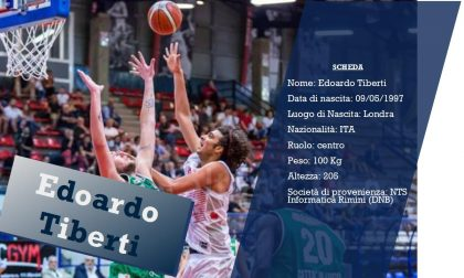 La Blu Basket ha un nuovo centro: benvenuto a Edoardo Tiberti