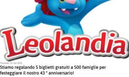 Biglietti gratis Leolandia, occhio alla bufala
