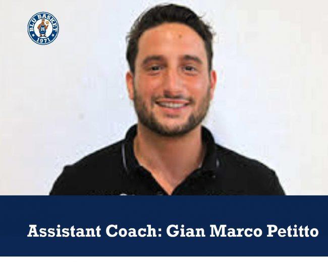 Blu Basket, Petitto nuovo Assistant coach