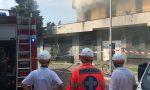 Incendio alle Torri di Zingonia, bruciano i rifiuti abbandonati