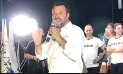 Salvini a Spirano per la festa della Lega