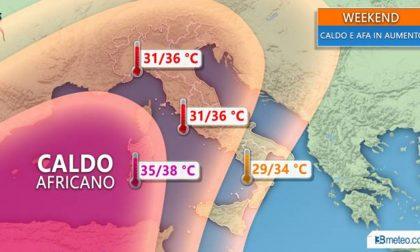 Caldo africano tra luglio e agosto METEO