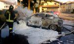Incendio in strada questa mattina, a fuoco due auto FOTO