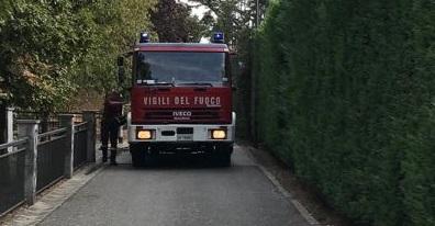 Cassano d'Adda pompieri in via Rimembranze