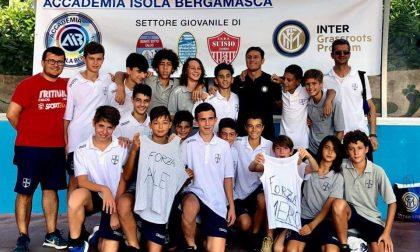 TREZZO anche Javier Zanetti tifa per Alessandro giovane calciatore della Tritium