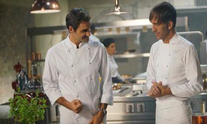 Roger Federer a Cassano per girare lo spot della Barilla