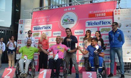 Alex Landoni è maglia rosa al Giro d'Italia di handbike