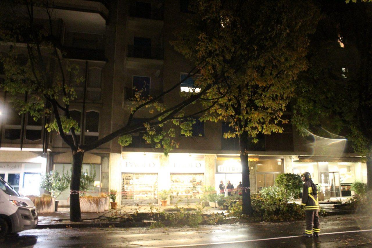 Maltempo Treviglio - Viale della stazione